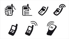 Free Phone Icons Stock Photos - 19416793