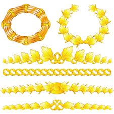 Free Gold Wreaths And Dividers Stock Photo - 19418160