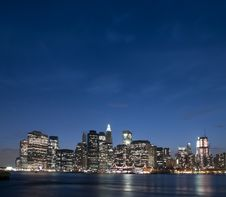 Free New York City Skyline Royalty Free Stock Photography - 19418247
