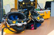 Frogman Hi-tech Masks Stock Photography