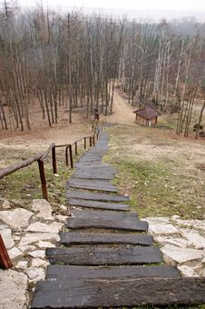 Free Long Stairs In Forest Royalty Free Stock Photos - 19419928