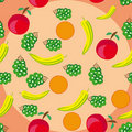 Free Abstract Pattern With Fruits Stock Photography - 19425732