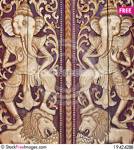 Free The Carving Wood Royalty Free Stock Photos - 19424288