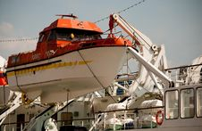 Free Lifeboat On The Ship Stock Images - 19420204