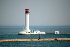 Free Lighthouse In The Sea Royalty Free Stock Images - 19420229