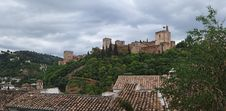 Free Alhambra Palace In Cloudy Day, Granada, Spain Royalty Free Stock Image - 19421846