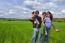 Free Happy Family Outdoors Stock Photography - 19422022
