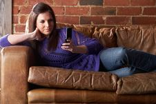 Free Young Woman With Phone Stock Photos - 19422643