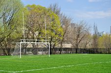 Goalpost For Soccer And Football Royalty Free Stock Images