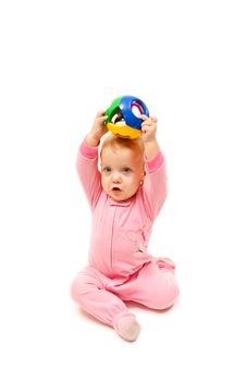 Free Baby With Color Ball Stock Photos - 19423293