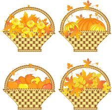 Free Autumn Baskets Stock Photography - 19423322