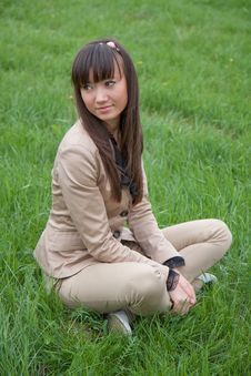 Portrait Of A Beautiful Asian Woman Outdoor Stock Photo