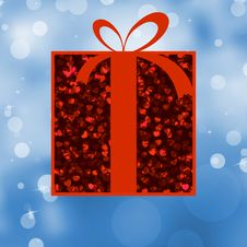 Free Red Gift Box With Red Ribbon. EPS 8 Stock Images - 19423844