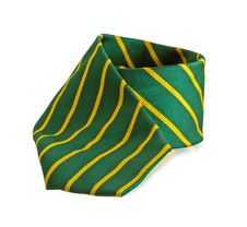 Free Green Tie With Yellow Stripes Stock Photography - 19424052