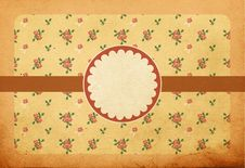 Free Vintage Background With Pink Roses Royalty Free Stock Image - 19424256
