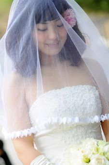 Free A Chinese Bride Royalty Free Stock Photography - 19424427