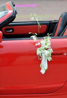 Free Wedding Car Flowers Royalty Free Stock Photos - 19424538