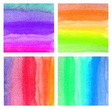 Free Set Of Colorful Watercolor Stock Photos - 19424623