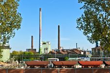 Free Industry Park With Silo And Chimney Royalty Free Stock Image - 19424926