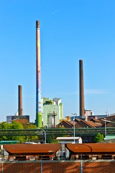 Free Industry Park With Silo And Chimney Royalty Free Stock Photos - 19424958