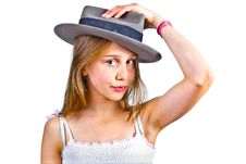 Free Portrait Of Cute Young Teenage Girl Royalty Free Stock Images - 19425219
