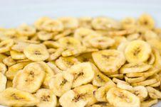 Dried Banana Slices Stock Photo