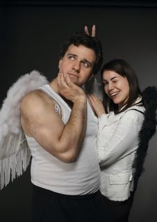 Mr. And Mrs. Angel Stock Photos