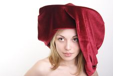 Free Portrait Of The Girl Of The Blonde In A Hat. Royalty Free Stock Photo - 19426325