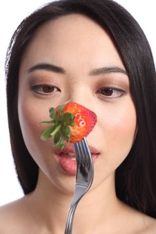 Free Strawberry Eyes Of Beautiful Young Oriental Girl Stock Photos - 19426343
