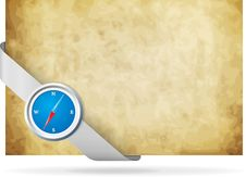 Free Compass And Old Background Royalty Free Stock Photo - 19426705
