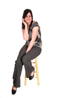 Free Businesswoman Sitting. Royalty Free Stock Photo - 19426795