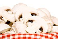 Free Basket Full Of Champignon Mushrooms Stock Photography - 19427822