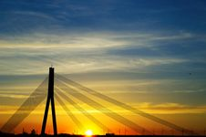 Free Sunset Bridge Stock Photography - 19428892