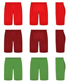 Free Shorts In Three Different Colors Royalty Free Stock Photo - 19429575