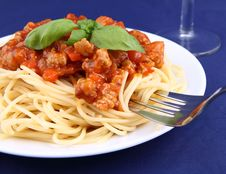 Free Spaghetti Bolognese Stock Photography - 19429642