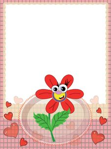 Free Frame With Red Flower Stock Photo - 19429770