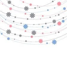 Free Background With Flowers. Vector Illustration Royalty Free Stock Photography - 19429957
