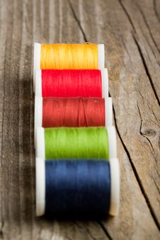 Free Spools Of Colorful Threads Stock Photo - 19429960
