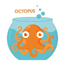 Free Dissatisfied Octopus In The Aquarium Stock Photo - 194205000
