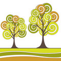 Free Abstract Tree, Flowers. Vector Illustration Royalty Free Stock Image - 19430606