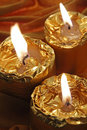 Free Golden Candles Stock Image - 19430631