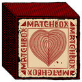 Free Matchbox Red Heart Woodcut Royalty Free Stock Photo - 19434015
