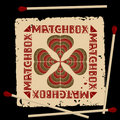 Free Clover Matchbox Label Royalty Free Stock Photography - 19434837