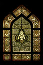 Free Stained Glass Window Of Angel, Wat Benjamobopith Royalty Free Stock Images - 19437909