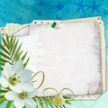 Free Beach Postcard With Sea Shell And Star Fish Royalty Free Stock Images - 19438509