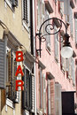 Free Street Lamp And Bar Sign Royalty Free Stock Photography - 19438917