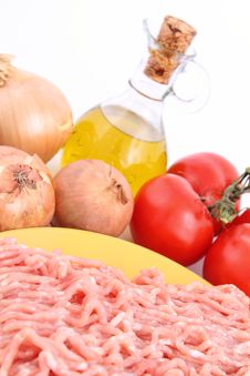 Bolognese Sauce Ingredients Stock Photo