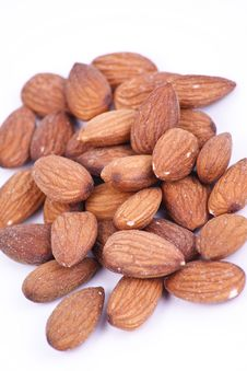 Free Almond Nuts Isolated On White Background Royalty Free Stock Photos - 19430348