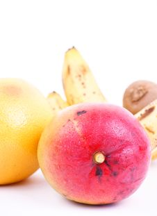 Mango With Tropic Fruits Stock Photography