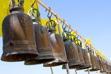 Free Bell In Buddisht Temple Royalty Free Stock Photo - 19430525